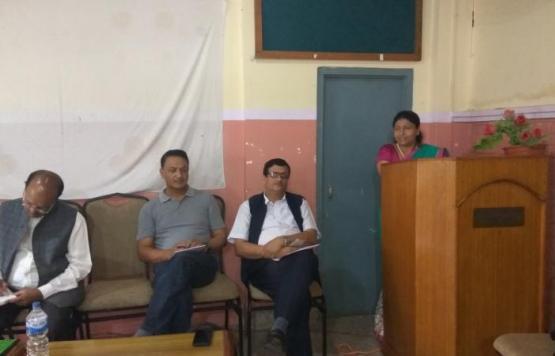 आफ्नो मन्तव्य राख्दै उप प्रमुख श्री लक्ष्मी देवी अधिकारी ज्यू
